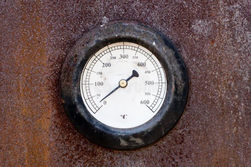 температура датчика старая стоковое фото rf