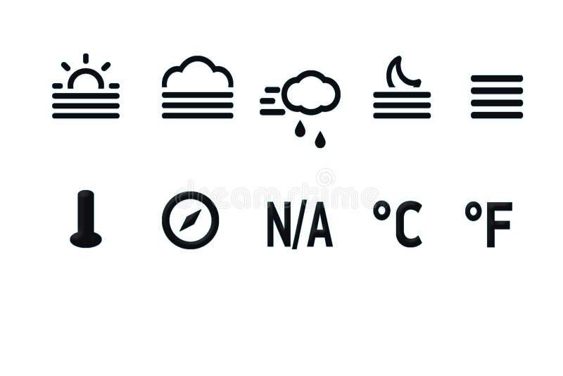Температура значка стоковое фото