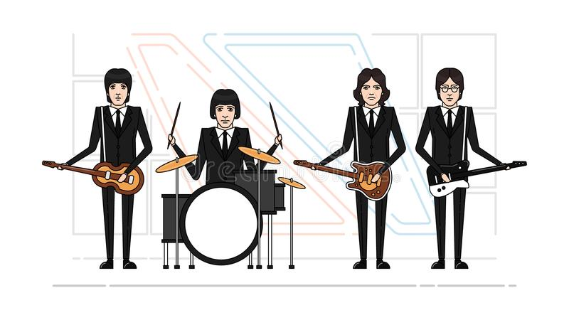 Темы диапазона Beatles бесплатная иллюстрация