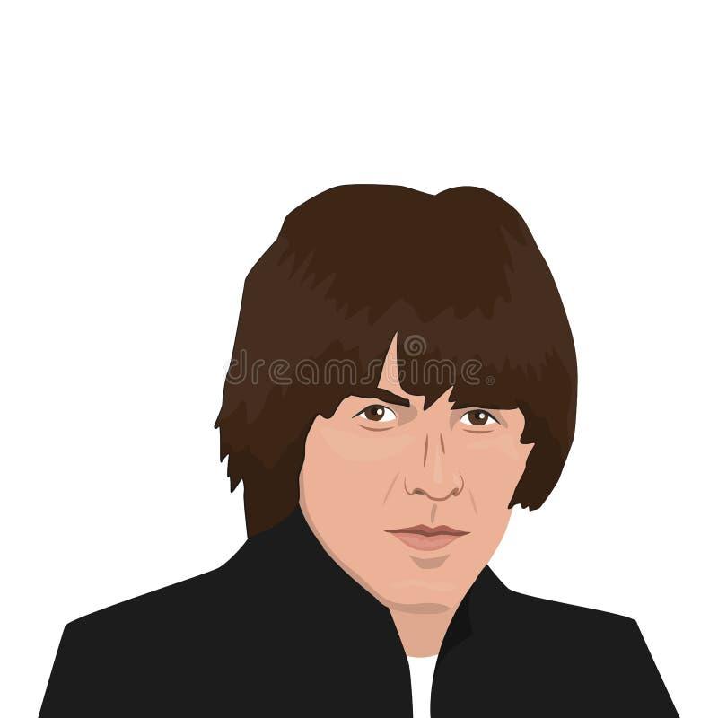 Темы диапазона Beatles иллюстрация штока