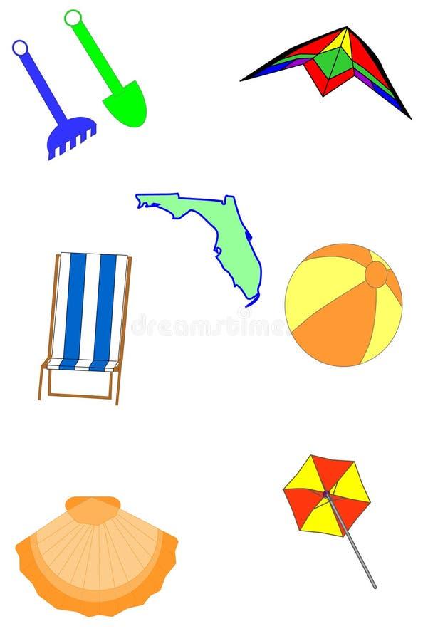 темы florida пляжа иллюстрация вектора