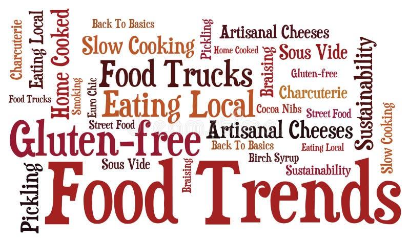 тенденции еды иллюстрация вектора