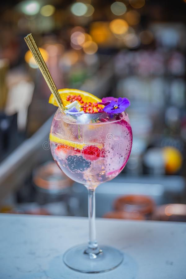 Тенденция коктейля в Дублине стоковое изображение