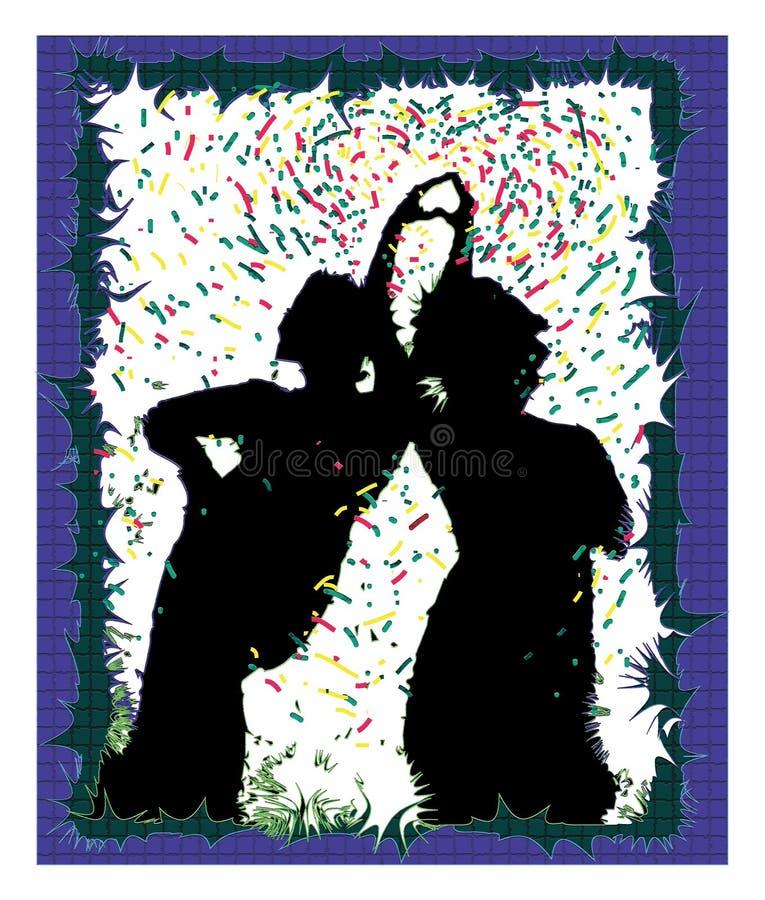 Тени и девушки бесплатная иллюстрация