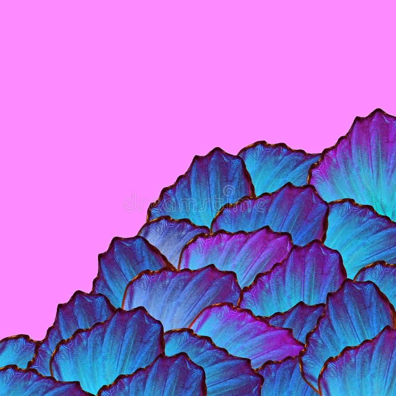 Тени сини голубая абстрактная картина E r иллюстрация вектора