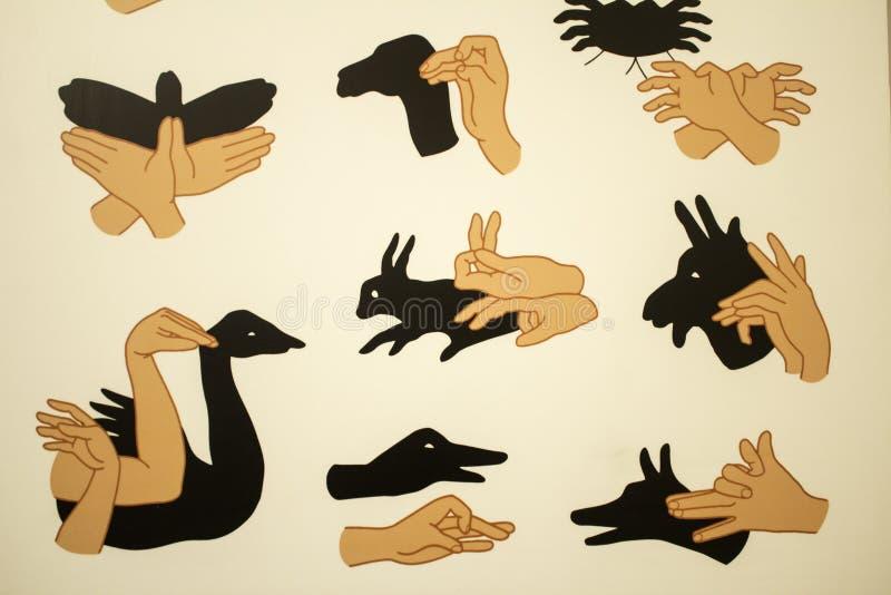 Тени с руками иллюстрация вектора