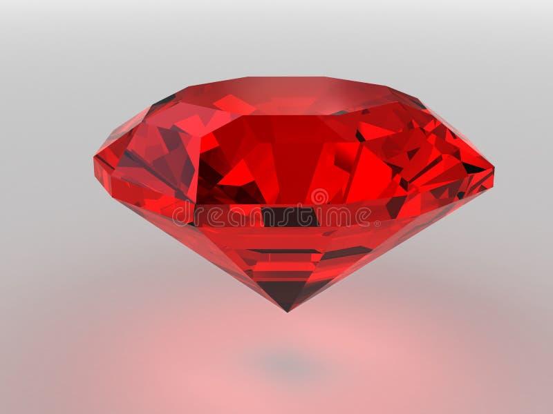 тени темного gemstone красные представленные мягкие иллюстрация вектора
