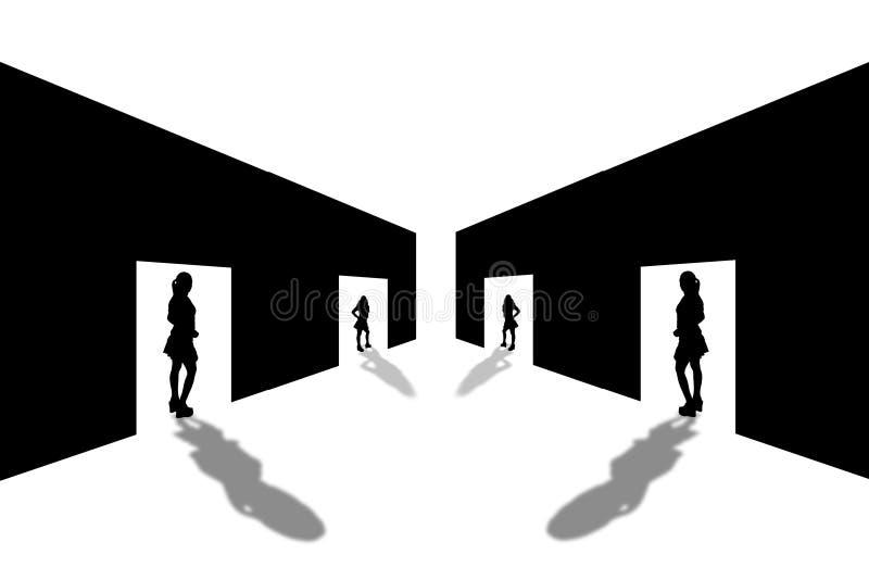 тени 1 входа бесплатная иллюстрация