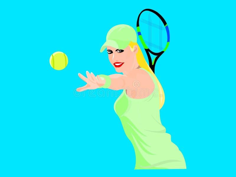 теннисист принимает тангаж стоковые изображения rf
