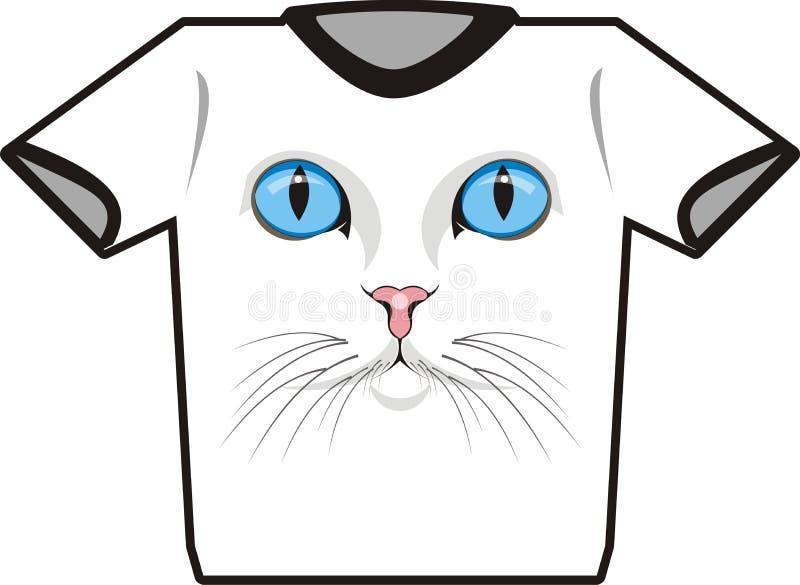 тенниска кота иллюстрация штока
