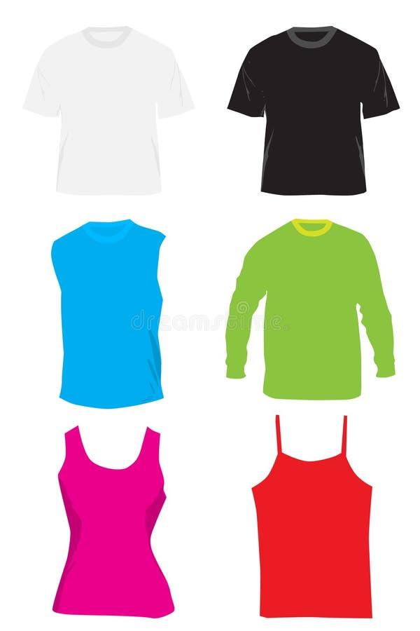 тенниски рубашек oufit иллюстрация штока