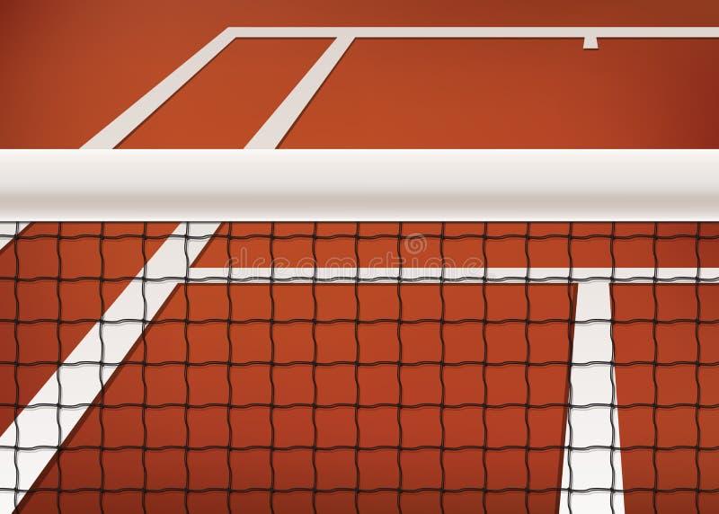 Теннисный корт иллюстрация штока