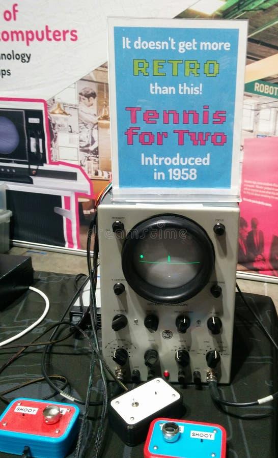Теннис для 2 - первая видеоигра всегда стоковое изображение rf