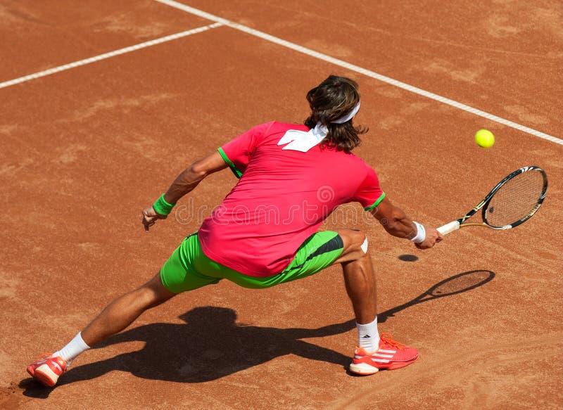 теннис игрока действия стоковая фотография rf