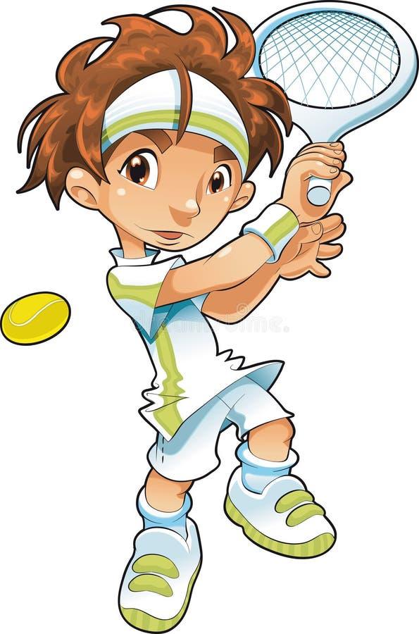 теннис игрока младенца иллюстрация вектора