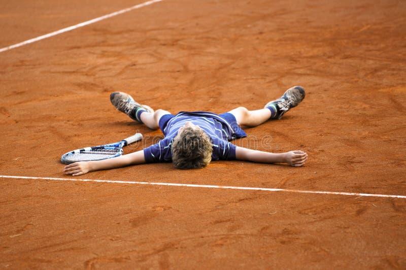 теннис игрока чемпиона стоковые изображения rf