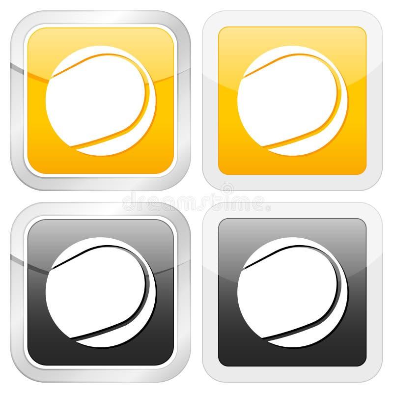 теннис иконы квадратный бесплатная иллюстрация