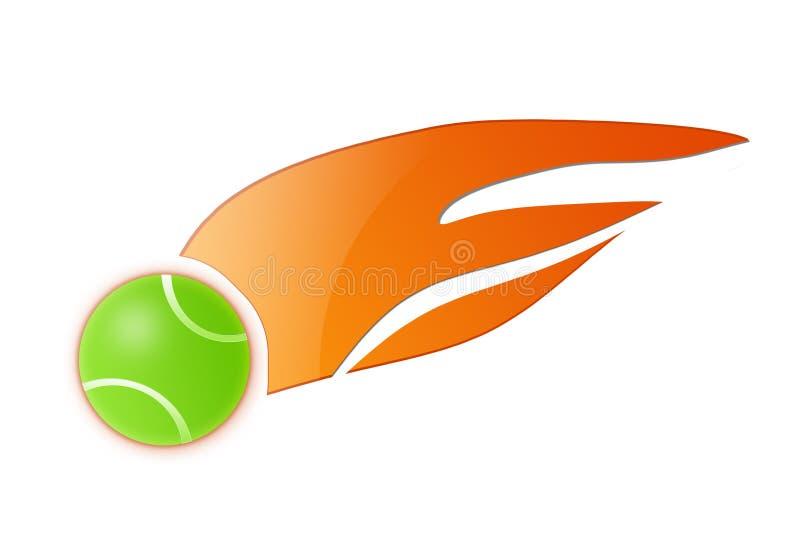 теннис иллюстрации пламени шарика иллюстрация вектора