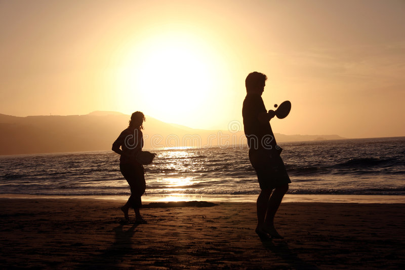 теннис пляжа стоковая фотография rf