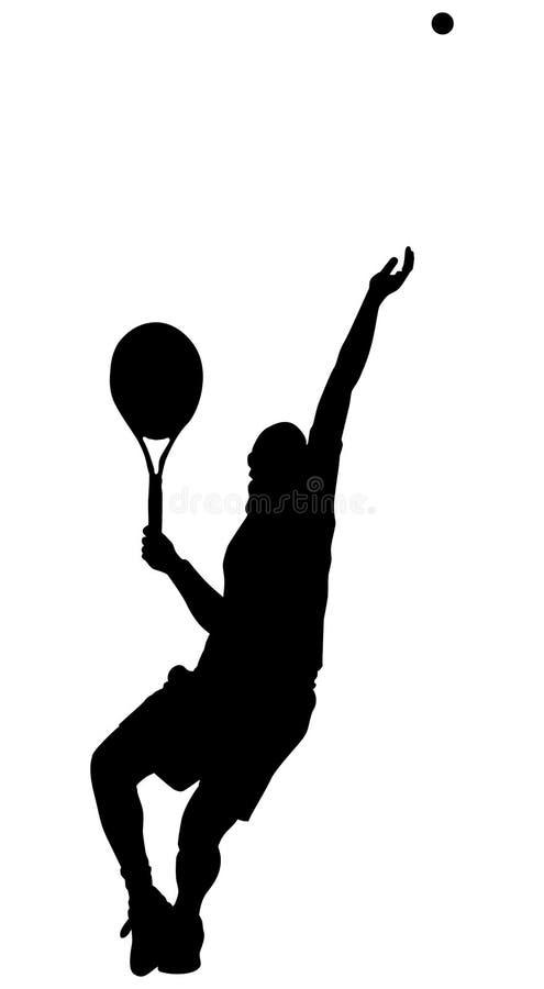 теннис подачи бесплатная иллюстрация