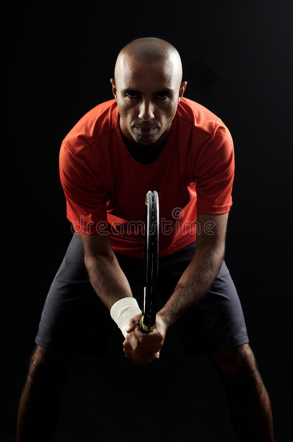 теннис портрета игрока стоковые фото