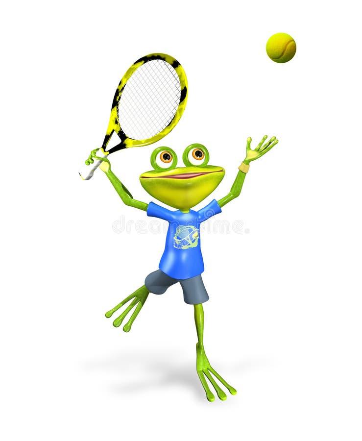 Теннис лягушки иллюстрация вектора