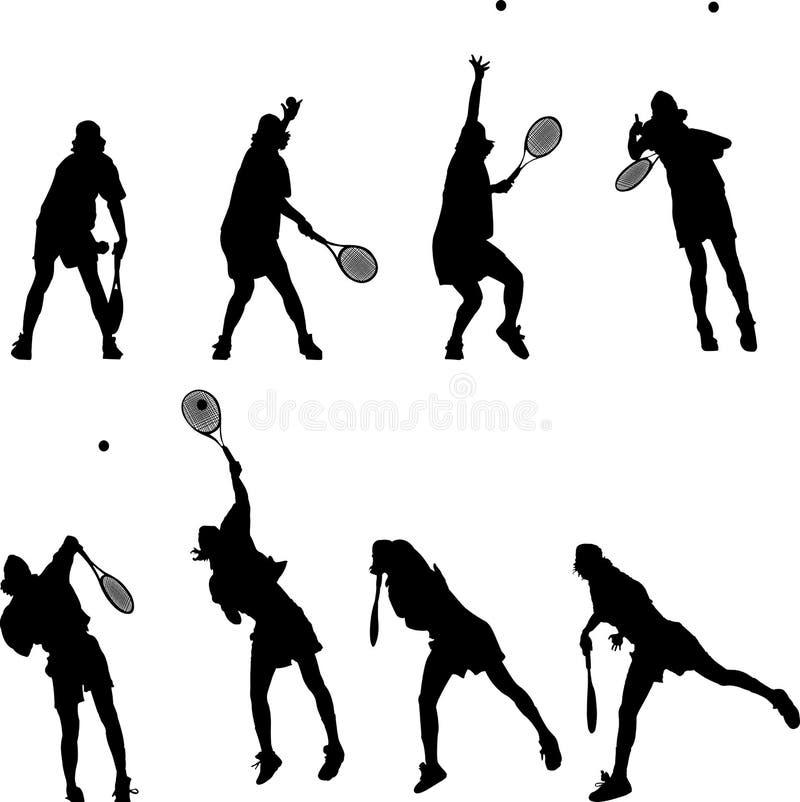 теннис иллюстрация вектора