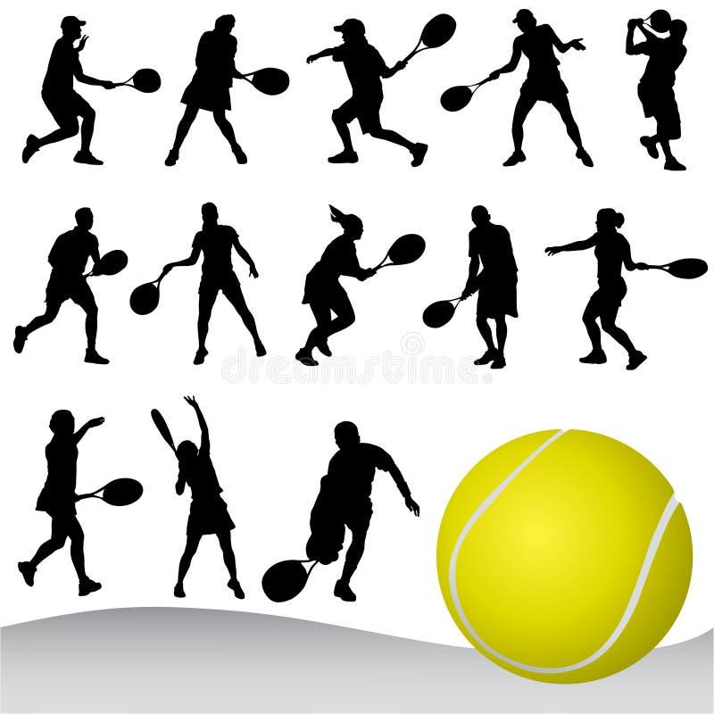 теннис иллюстрация штока