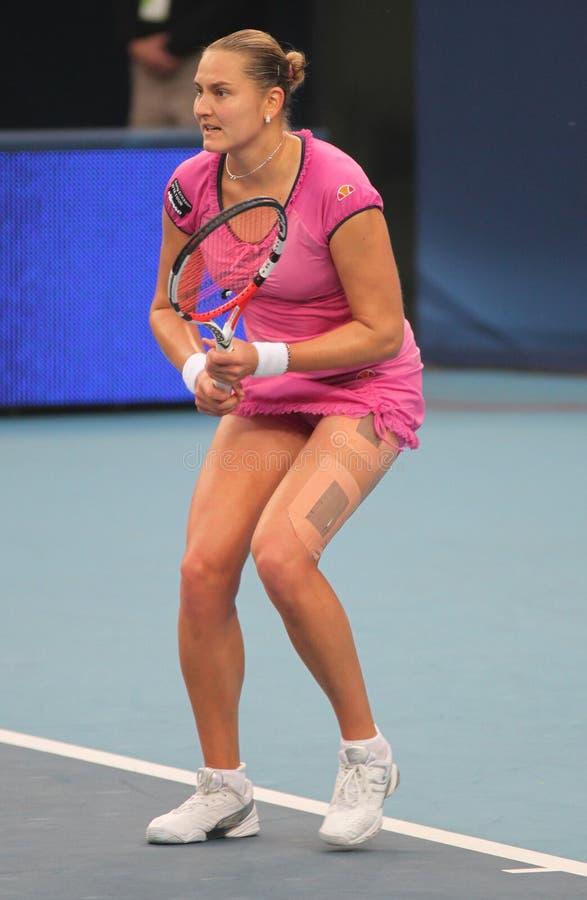 теннис rus игрока nadia petrova стоковое изображение