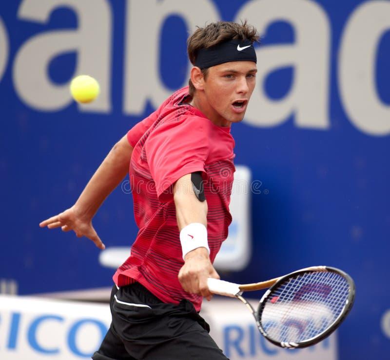 теннис serbian игрока filip krajinovic стоковое изображение rf