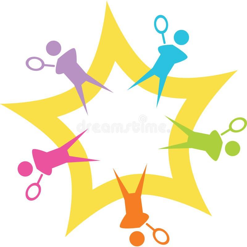 теннис starburst иллюстрация штока