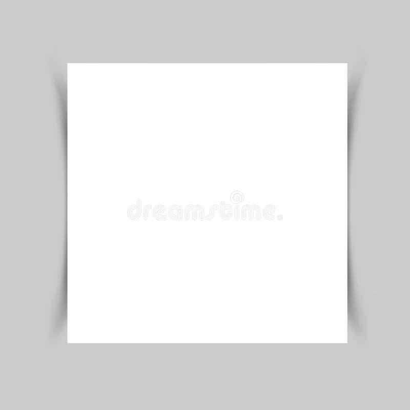 Тень белой бумаги иллюстрация вектора