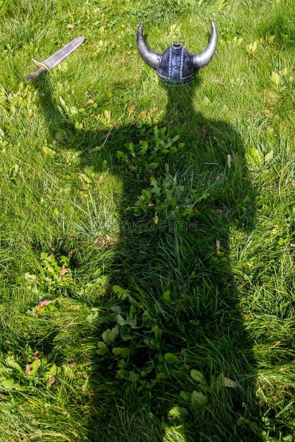 Тень Викинга стоковое фото rf