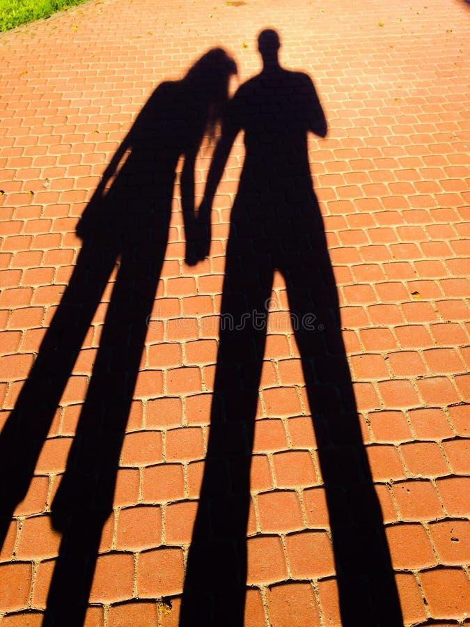 Тень влюбленности стоковые фотографии rf