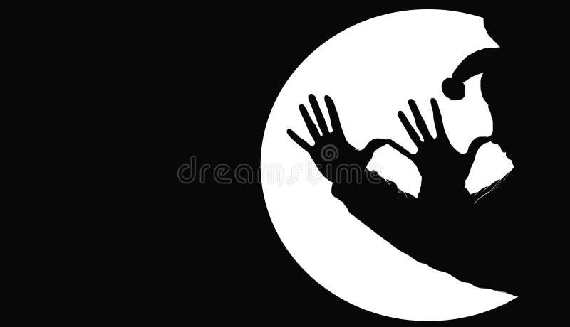 тень клоуна иллюстрация вектора