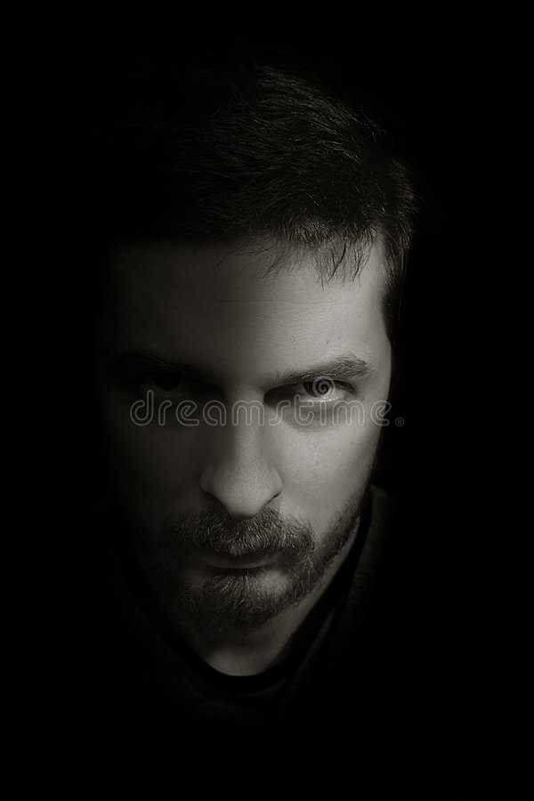 тень подавленного человека унылая стоковая фотография rf