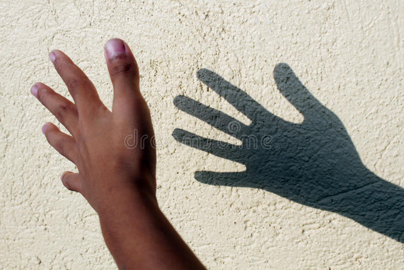 тень руки стоковое изображение