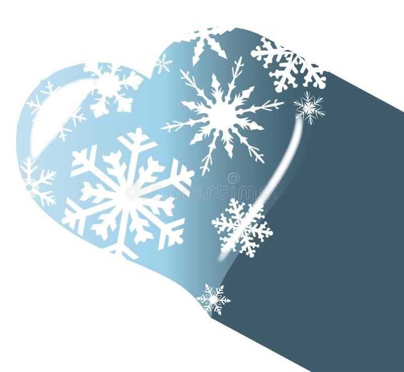 Тень сердца льда иллюстрация вектора