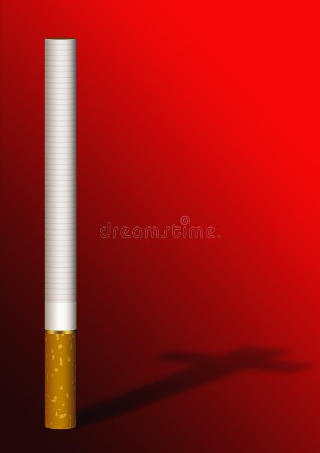 тень сигареты перекрестная красная бесплатная иллюстрация