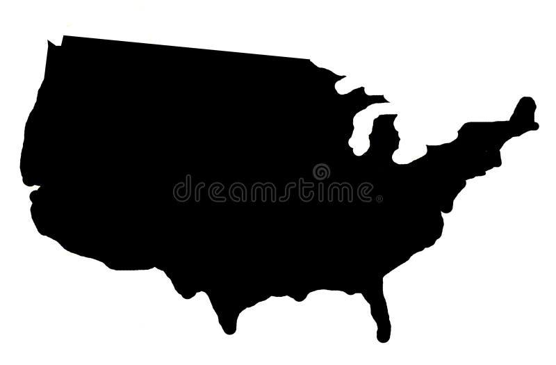 тень США карты иллюстрация штока
