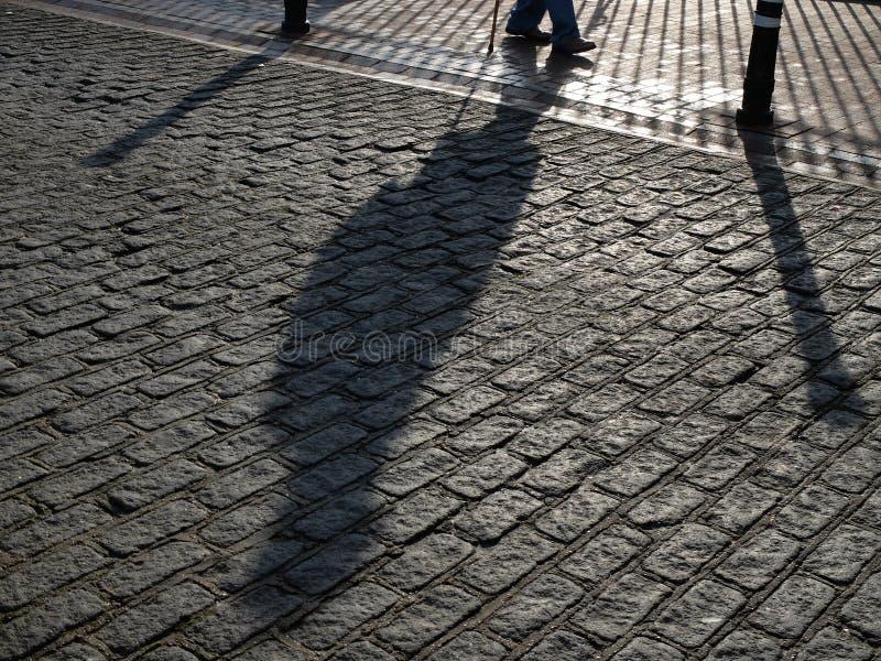 Тень улицы стоковые изображения rf