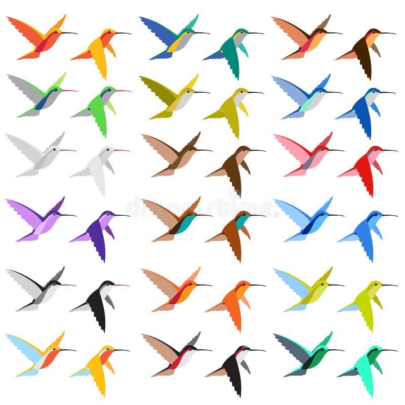 тень цветов колибри 18 иллюстрация штока