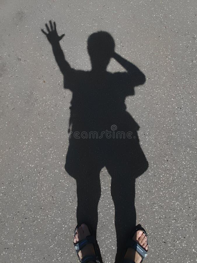 тень человека стоковые фото