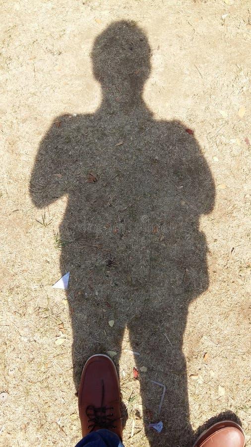 Тень человека стоковые фотографии rf