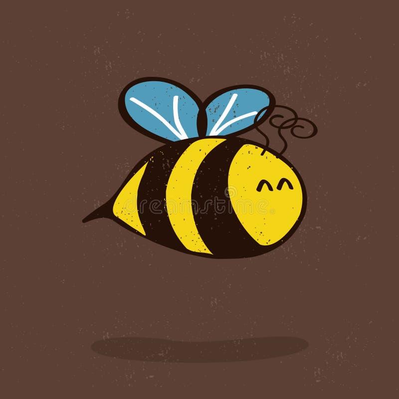 тень шаржа пчелы иллюстрация штока
