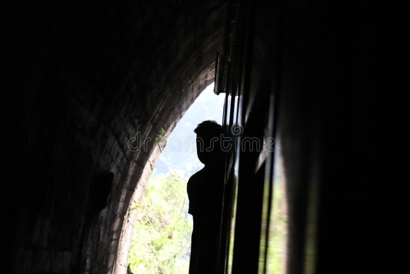 Тень Darak в поезде стоковые изображения