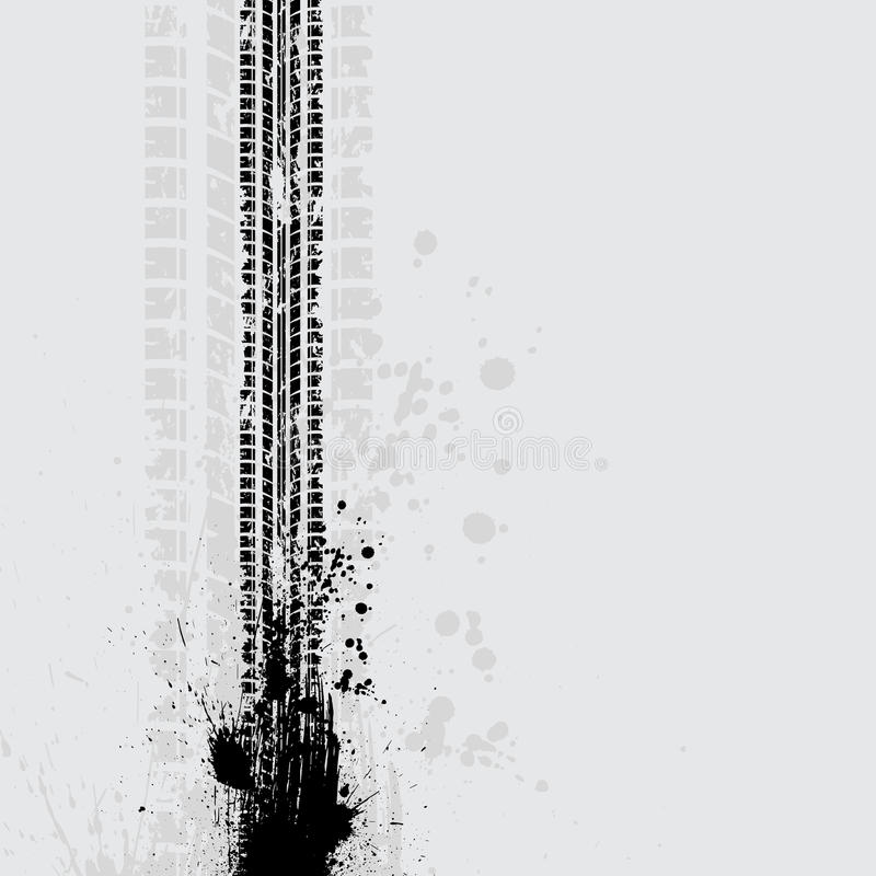 Тень grunge следа автошины иллюстрация вектора