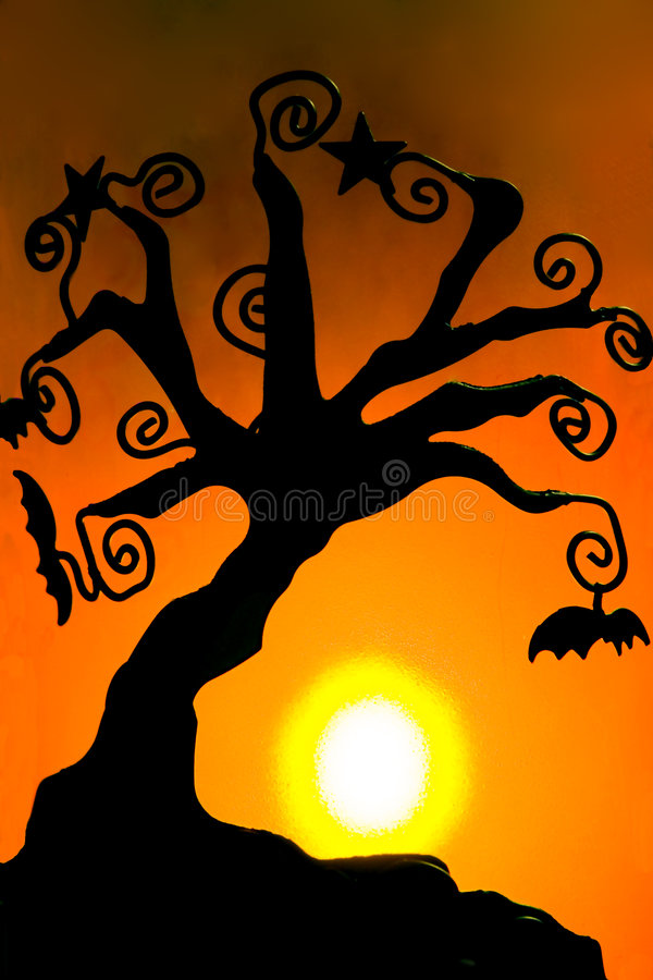 тень halloween 2 свечек стоковое фото rf