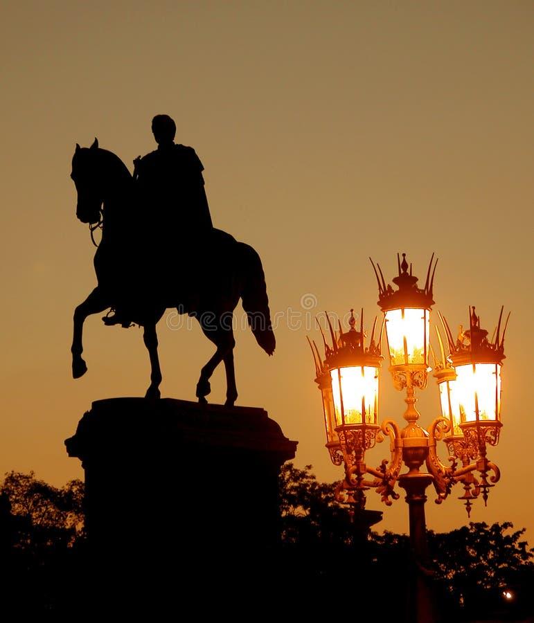 тень Riding Стоковое Фото