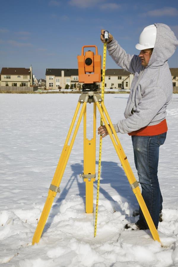 теодолит высоты измеряя стоковые фото